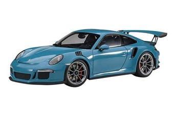 AUTOart Porsche 911 (991) GT3 RS Miami Blue with Dark Grey Wheels 1/18 Model Car 78167