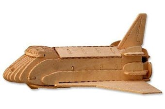3-D Wooden Puzzle - Space Shuttle Model -Affordable Gift for your Little One! Item #DCHI-WPZ-P054