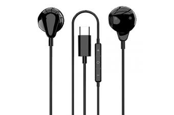 (Black) - Zarsson USB C Earphones, Digital Type C in-Ear Sleep Headphones Wired Earbuds Stereo Bass Noise Cancelling Sport Headsets for Google Pixel 3, 3XL/2, 2XL, Huawei, Xiaomi, HTC, Oneplus, iPad Pro 2018