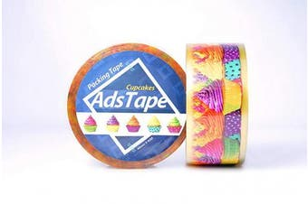 (Cup Cake) - ADSTAPE Cupcake Design Cellophane Packing Tape