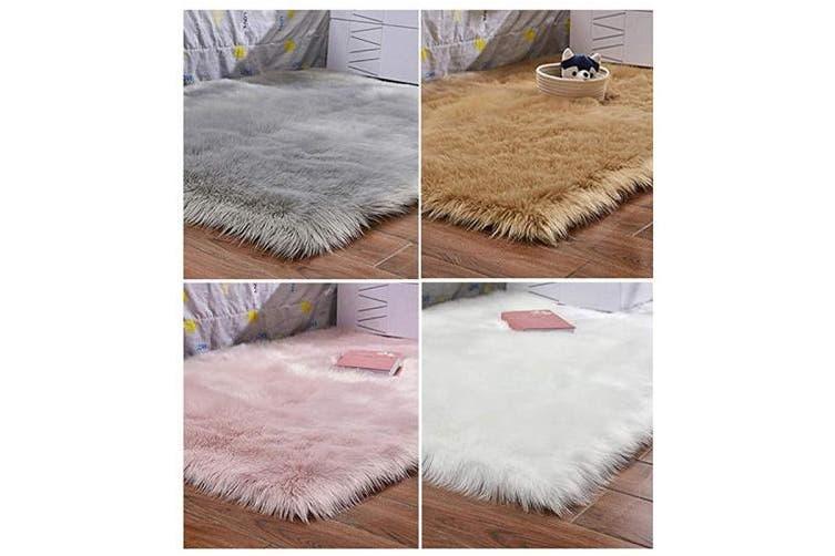 Haresle Washable Faux Fur Rug Fluffy