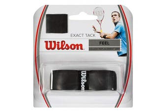 (One Size, Black) - Wilson Exact Tack Squash Replacement Grip