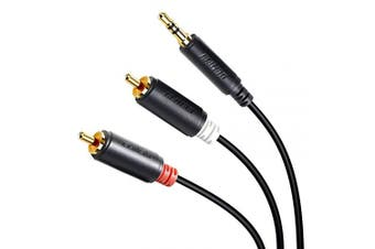 (1.8M, 1 Pack) - RCA to Audio, BENFEI 3.5mm to 2-Male RCA Adapter Audio Stereo Cable -1.8 Metre