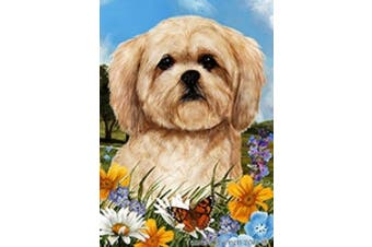 Lhasa Apso - Best of Breed Summer Flowers Garden Flags