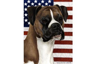 Boxer Fawn Uncropped - Best of Breed Patriotic II Garden Flags