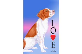 Brittany Spaniel - Best of Breed Love Design House Flag