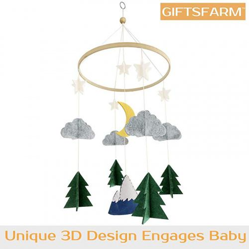 Baby Crib Mobile by Giftsfarm Starry Woodland Night Nursery Decoration Crib Mobile for Boys and Girls