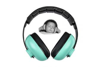 (Mint Green) - Baby Earmuffs Infant Hearing Protection Noise Cancelling Headphones for 3 Months to 2 Years Babies (Mint Green)