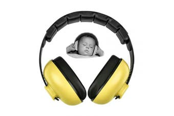 (Yellow) - Baby Earmuffs Infant Hearing Protection Noise Cancelling Headphones for 3 Months to 2 Years Babies (Yellow)