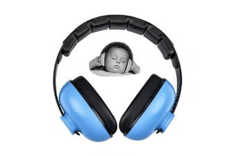 (Blue) - Baby Earmuffs Infant Hearing Protection Noise Cancelling Headphones for 3 Months to 2 Years Babies (Blue)