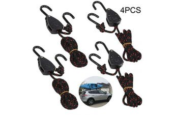 (8.0 Feet) - Acronde 4PCS 0.3cm 1.8m Adjustable Heavy Duty Rope Hanger Ratchet Kayak and Canoe Bow and Stern Tie Downs Straps