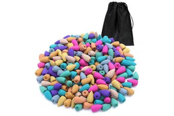 Aneco 240 Pieces Natural Backflow Incense Cones 10 Mixed Natural Scents Rose Jasmine Lily Mint Lavender and Other Fragrances