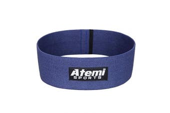 (Blue, M/L) - Resistance Hip Band | Heavy Duty Glute Activation Band for Men or Women | Free Exercise Guide | Glute Resistance Band for Strength Training, Weight Loss, Pilates and Thigh, Hip and Booty Exercise