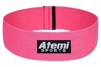 (Pink, M/L) - Resistance Hip Band | Heavy Duty Glute Activation Band for Men or Women | Free Exercise Guide | Glute Resistance Band for Strength Training, Weight Loss, Pilates and Thigh, Hip and Booty Exercise