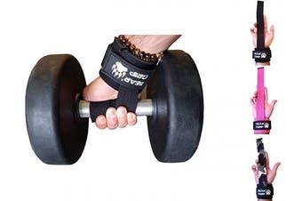 (Black) - BEAR GRIP Power Straps - Weight lifting Straps