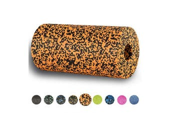 (Tiger-Orange) - BODYMATE 30cm long STANDARD medium-hard smooth foam roller with .
