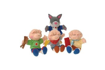 US Toy MTC-195 The Three Little Pigs Puppets