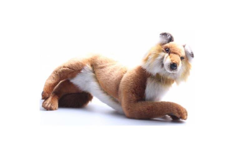 Hansa Red Fox Stuffed Plush Animal, Laying