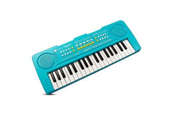(Blue) - AIMEDYOU 37 Keys Kids Piano Keyboard Portable Electronic Musical Instrument Multi-Function Music Keyboard Early Learning Educational Toy Birthday Xmas Day Gifts for Kids (Blue)