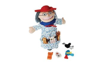 """Puppet and Finger Puppets for There Was An Old Lady Who Swallowed A Fly"""" Book*"""""""