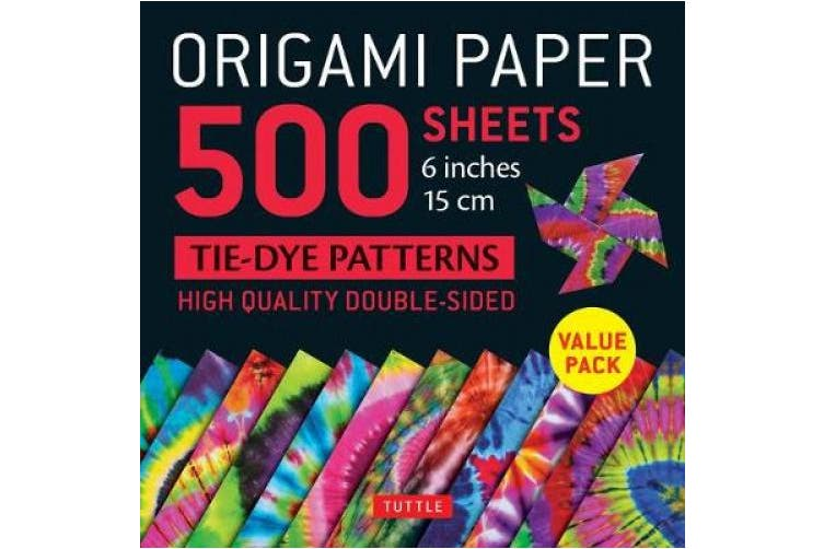 "Origami Paper 500 sheets Tie-Dye Patterns 6"" (15 cm): High-Quality Double-Sided Origami Sheets Printed with 12 Different Designs (Instructions for 6 Projects Included)"