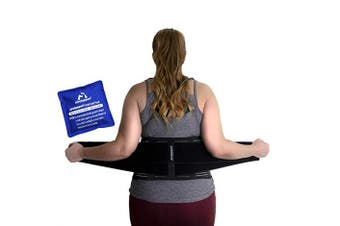 (L/XL) - AireSupport by Dr. Hammond - Lumbar Support Back Brace with Reusable Ice/Hot Hot/Cold Pack and Removable Lumbar Pad and Back Brace - Soft Lumbar Back Brace - Lower Back Brace L/XL