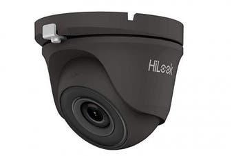 HiLook by Hikvision 2MP THC-T120 2.8mm HD EXIR 20m IR TVI/AHD/CVI/CVBS Turret Dome CCTV Camera Metal Body - Grey