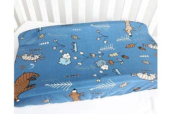 (Brown Bear) - Baby Boy Girl's 100% Cotton Crib Bedding Changing Pad Cover (Brown Bear)