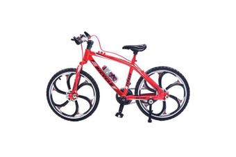 (Racing Bike Red) - Ailejia Alloy Mini Bicycle Model Finger Mountain Bike Mini Bicycle Cool Boy Toy Decoration Crafts for Home (Racing Bike Red)