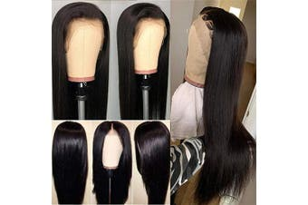 (60cm , 13*4 Straight Lace Front wigs) - Connie Straight Lace Front Wigs Pre Plucked With Baby Hair Women 60cm Brazilian Human Hair 13 x 4 Lace Front Wigs For Black Natural Colour