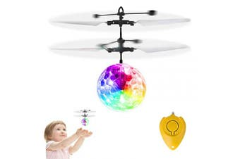 GALOPAR Flying Ball Toys, Rechargeable Ball Drone Light Up RC Toy for Kids Boys Girls Gifts, Infrared Induction Helicopter with Remote Controller for Indoor and Outdoor Games
