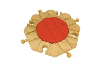 Bigjigs Rail 8 Way Turntable - Other Major Wooden Rail Brands are Compatible