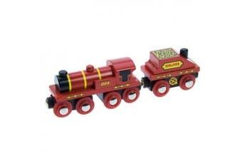 Bigjigs Single Wooden Train Engine (Big Red)