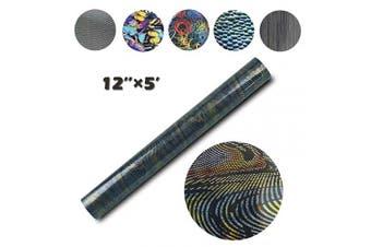 (30cm ×1.5m, Snake Grain) - Bright PU Heat Transfer Vinyl for DIY Clothing,Shirts,Bags,Hats,Socks (Snake Grain, 30cm ×1.5m)