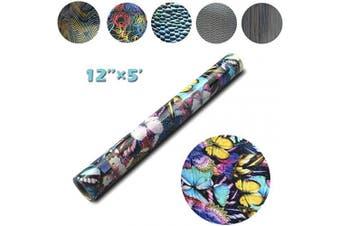 (30cm ×1.5m, Butterfly) - Heat Transfer Vinyl Bright PU for DIY Clothing,Shirts,Bags,Hats,Socks (Butterfly, 30cm ×1.5m)