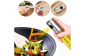 (1 Sprayer) - Olive Oil Sprayer Bottle, Stainless Steel Glass Oil Dispenser for Cooking, BBQ, Salad, Baking, Roasting, Kitchen Tools, 3.4- ounce Capacity