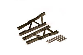 (Front Lower Arm, Gun Metal) - Atomik RC Alloy Front Lower Arm, Grey fits the Traxxas 1/10 Slash 4X4 and Other Traxxas Models - Replaces Traxxas Part 3655X