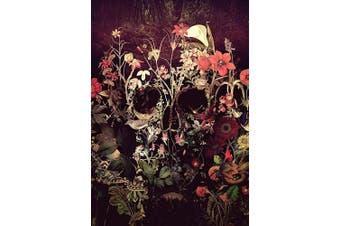 (Wooden Framed, Skull) - ABEUTY DIY Paint by Numbers for Adults Beginner - Custom Flowers Skull 41cm x 50cm Number Painting Anti Stress Toys (Wooden Framed)
