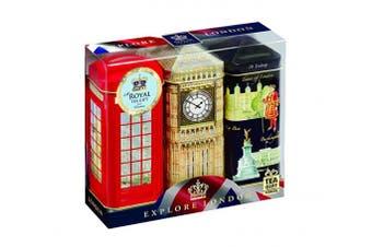Ahmad Tea Explore London Caddies with English Breakfast Teabags 386 g