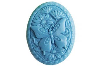 (butterfly 5) - GreatMold Butterfly Flowers Soap Mould Beautiful Oval Craft Art Silicone Soap Mould DIY Handmade Candle Moulds