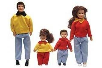 Dollhouse Miniature 4-Pc. Thompson Family
