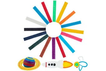 About 640 Pieces Sticky Wax Yarn Stix Monkey String Bendable for Children DIY School Project, 13 Colours