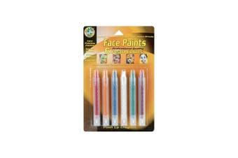 (Pearl Colors) - Face Paint Push-Up Crayons 6/Pkg