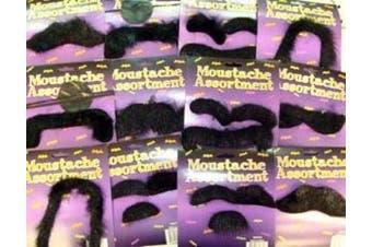 24 Self Adhesive Fake Moustaches