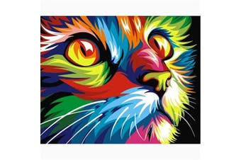 (40*30, Rainbow Cat) - Diamond Painting Kits for Adults Kids, 5D DIY Rainbow Cat Diamond Art Accessories with Round Full Drill Dotz for Home Wall Decor - 15.7×30cm