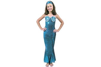 Girl's Mermaid Child's Costume (Size:Small 6-8)