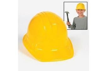 (One Size) - YELLOW CONSTRUCTION HATS (1 DOZEN) - BULK