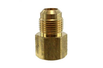 (0.6cm  Flare x 0.6cm  NPT Female) - Anderson Metals Brass Tube Fitting, Coupling, 0.6cm Flare x 0.6cm Female Pipe