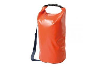 (50L, Orange) - AceCamp Foldable Vinyl Dry Sack, Waterproof Dry Bag, Camping, Hiking, Watertight PVC, Floating Roll Top, Carry-On Backpack, Integrated Handle, Duraflex Buckle - 10L, 20L, 30L, 50L