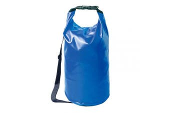 (20L, Blue) - AceCamp Foldable Vinyl Dry Sack, Waterproof Dry Bag, Camping, Hiking, Watertight PVC, Floating Roll Top, Carry-On Backpack, Integrated Handle, Duraflex Buckle - 10L, 20L, 30L, 50L